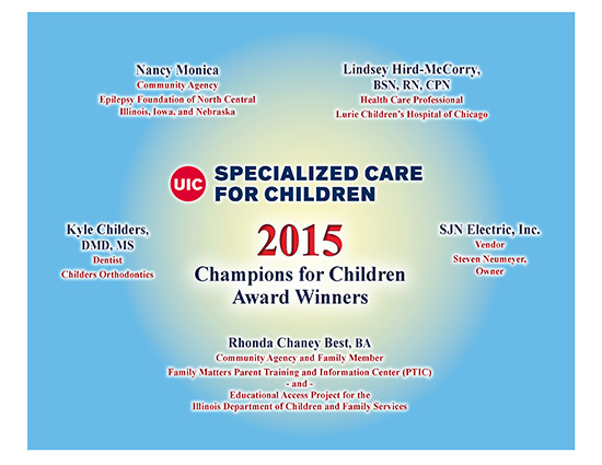 2015 UIC DSCC Champions for Children Award recipients