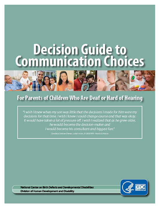 Decision Guide to Communication Choices - page 1 of booklet