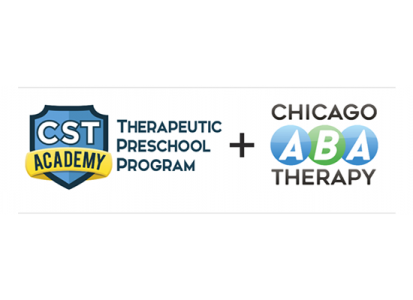 CST Academy logo, Chicago ABA Therapy logo