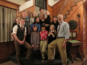 DSCC Family Advisory Council member Elizabeth Curry poses with her 12 children.