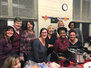 DSCC's Mokena RO staff prepare dinner at a homeless shelter