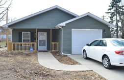The front of the Barmaki family's new accessible home built through Habitat for Humanity