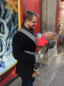Eloise and her father, Matt Hoffman
