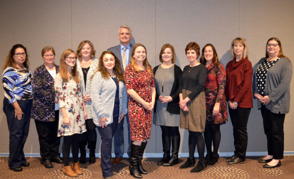 Eleven of the 13 DSCC Award of Merit nominees for 2019 pose with Executive Director Thomas Jerkovitz