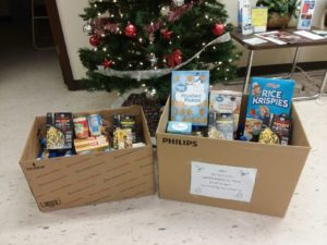 DSCC's Marion Regional Office collected two large boxes of food for Herrin House of Hope.