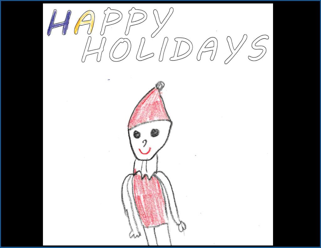 Drawing of Santa Claus