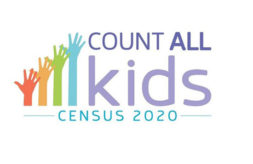 """Census 2020 logo and the text, """"Count All Kids"""""""