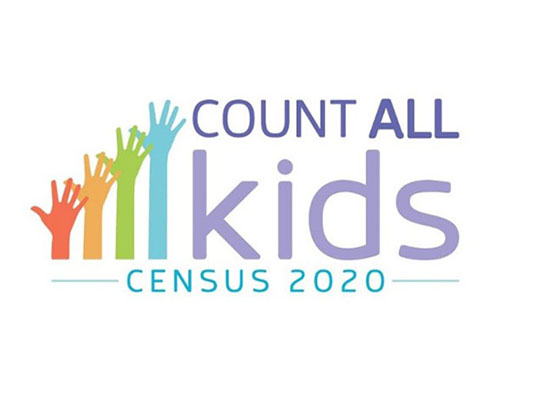 "Census 2020 logo and the text, ""Count All Kids"""