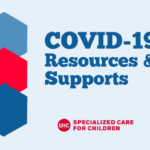 COVID-19 Resources & Supports text with DSCC logo