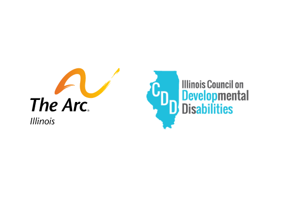 Logos for The Arc of Illinois and the Illinois Council on Developmental Disabilities